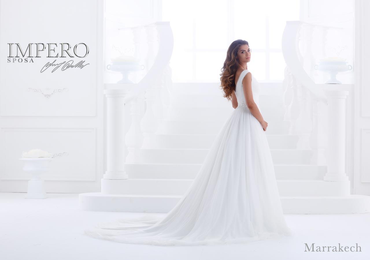 Marrakech abito da sposa impero couture